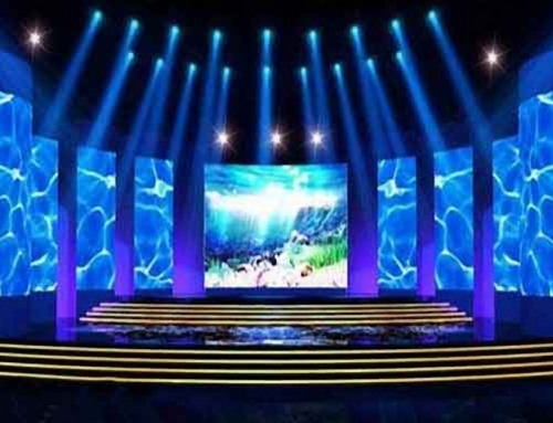 led strips centre stage floor and lighting equinox